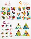 Mega collection of paper graphic banners labels