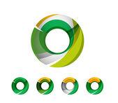 Sada abstraktní geometrická společnosti logo kruh, kruh