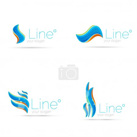 Illustration for Abstract wave line logo. Vector illustration - Royalty Free Image