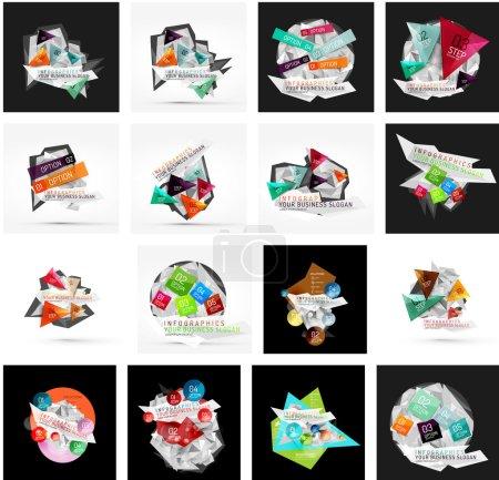 Set of geometric layouts