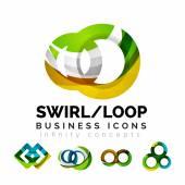 Sada infinity koncepty, návrhy logo smyčky