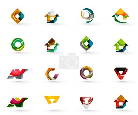 Set of various geometric icons