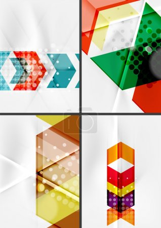 Set of angle and straight lines design abstract backgrounds