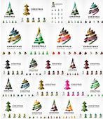 Vektor sadu ikon vánoční stromeček. Geometrický design