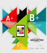 Abstraktní informace hlavičky s možnostmi, geometrické papírové styl