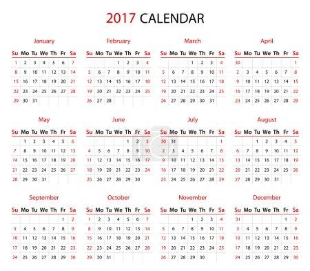 The 2017 calendar