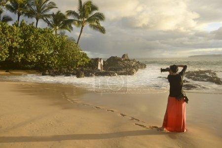 Photographer Shooting Wedding Couple, Secret Beach...