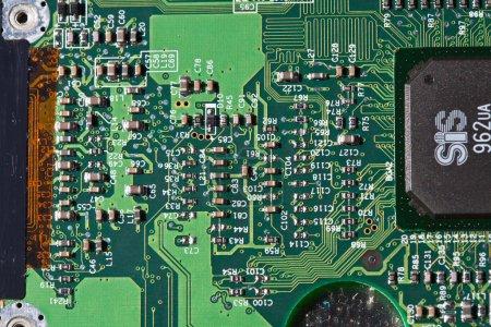 Computer electronics close up