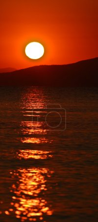Photo for Scenes from Peloponese in greece in the summer. Sunset at the beach - Royalty Free Image