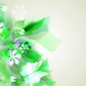 Hintergrund mit Licht grün abstrakt blumen