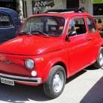 Постер, плакат: Fiat 500 red
