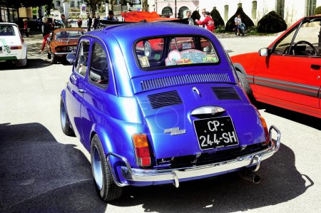 Old Fiat 500 Abarth racing
