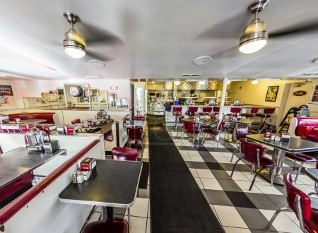 Johnny Rockets restaurant at ocean