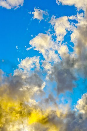 Abstract colorful sky and clouds
