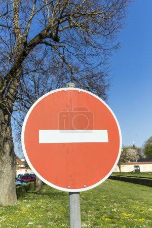 Keine Einfahrt für Fahrzeuge Verkehrszeichen