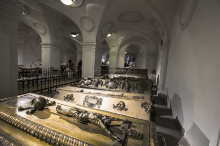 VIENNA, AUSTRIA - APR 26, 2015:  crypt of the Habs...