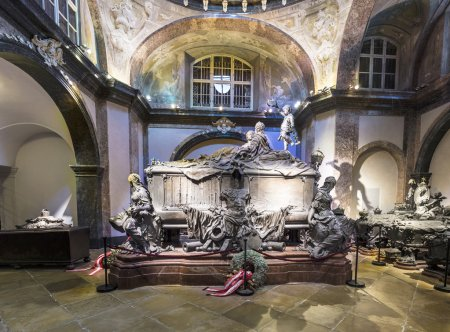 VIENNA, AUSTRIA - APR 26, 2015:  crypt of the Habs...