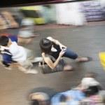 BANGKOK, THAILAND - MAY 6, 2009: people are walkin...