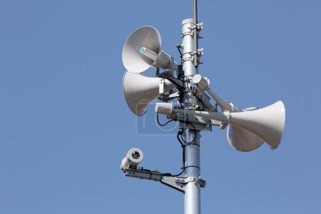 Tower of loudspeaker against