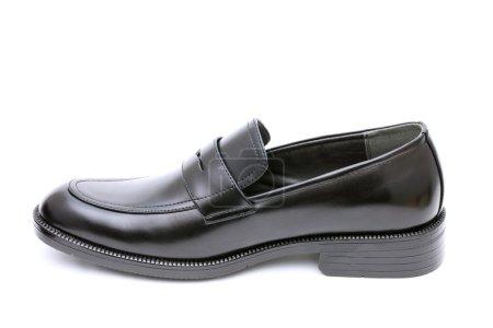 Black leather mens shoe