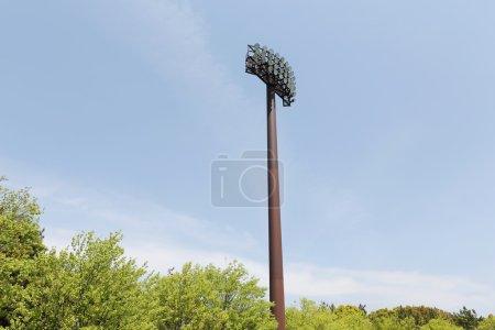 Light poles in the stadium