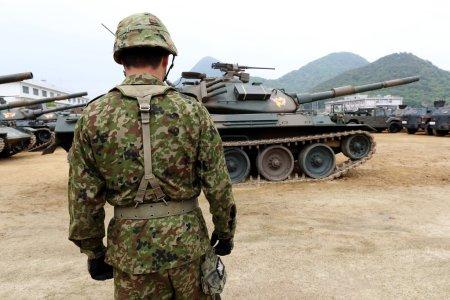 Photo pour Char militaire japonais, Forces d'autodéfense japonaises - image libre de droit