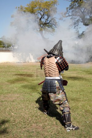 Japanese samurai clothing uniform with