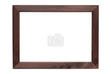 Photo pour Cadre photo en bois isolé sur fond blanc - image libre de droit