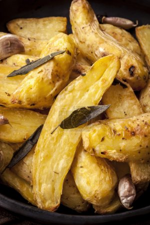 Roast Potatoes with Sage Garlic and Herbs