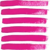 Set of fuchsia color brush strokes