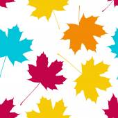 Vector seamless pattern with maple leaves Autumn fall