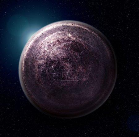 Photo pour Planète de fer (collage photoshop de texture métallique ) - image libre de droit