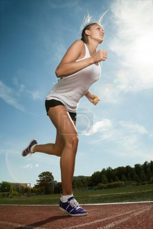 Beauty girl run