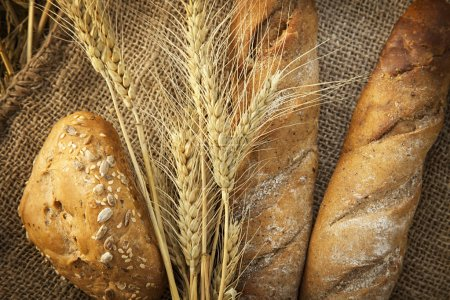 ears of wheat and bread