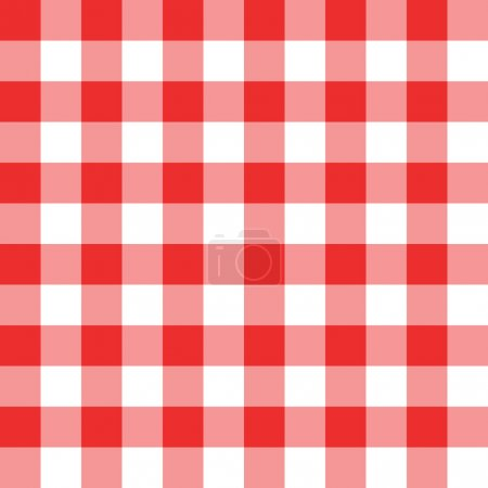 Photo for Bright two toned red and white checkered seamless background pattern - Royalty Free Image