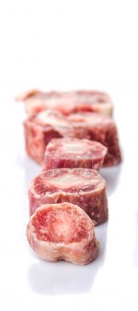 Photo for Raw frozen ox tail on white background - Royalty Free Image