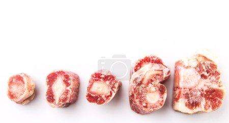 rohes gefrorenes Ochsenschwanzfleisch