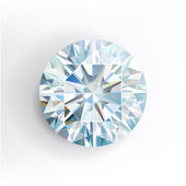 Diamond isolated on white background Vector illustration