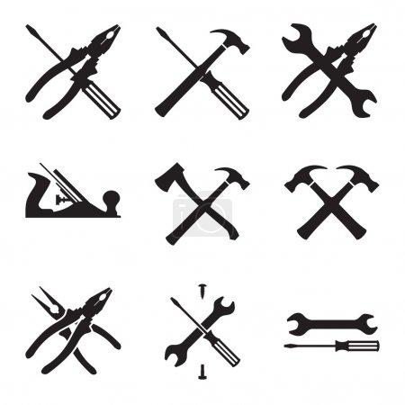 Photo for Tools icon set. Icons isolated on white background. Vector Illustration - Royalty Free Image