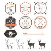 Vintage deer icons