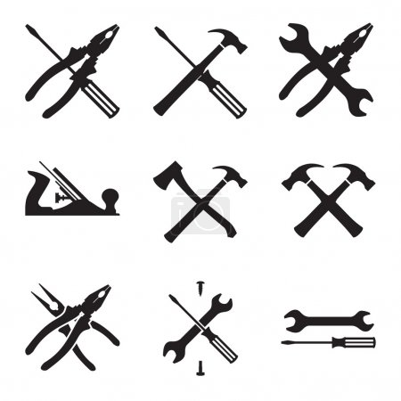 Tools icon set. Icons isolated on white background