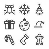 Christmas Icons on White Background