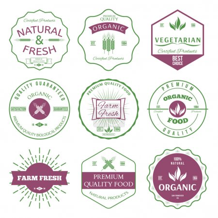 Labels and badges for organic