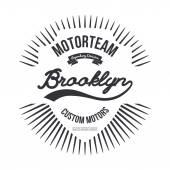 Motorteam Brooklyn T-shirt graphic isolated Vector illustration