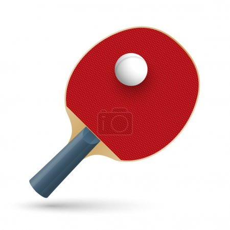 Racket for playing table tennis. Vector