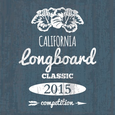 California longboard competition. t-shirt graphic