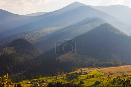 the mountain autumn landscape