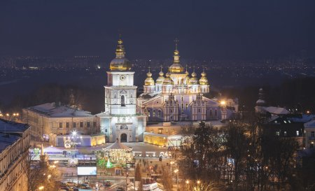 St. Michael's Golden-Domed Monastery - famous church in Kyiv, Ukraine