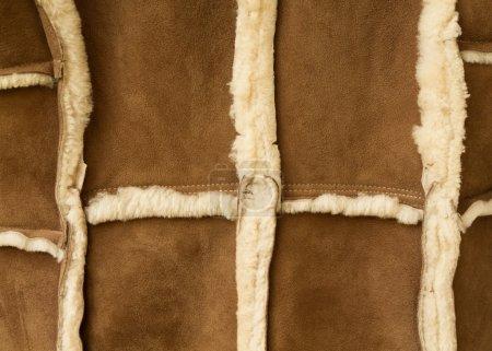 Sheepskin coat, made of pieces of sheepskin...