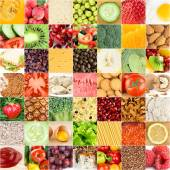 """Постер, картина, фотообои """"Коллекция фонов здоровых свежих продуктов"""""""